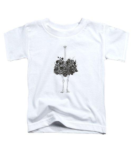 Floral Ostrich Toddler T-Shirt