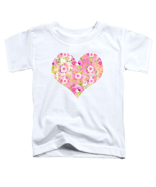 Floral Stripe Pattern Toddler T-Shirt