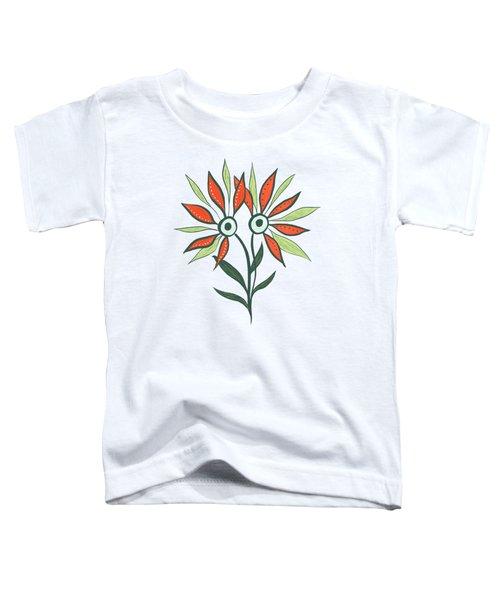 Flower Monster In Orange And Green Toddler T-Shirt