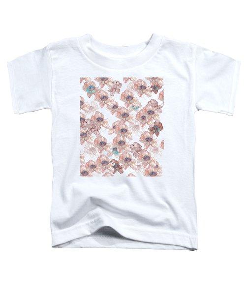 Flower Pattern Toddler T-Shirt