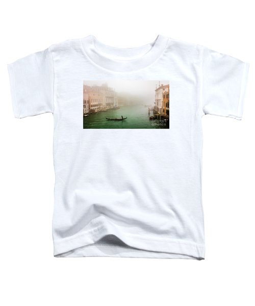 Foggy Morning On The Grand Canale, Venezia, Italy Toddler T-Shirt