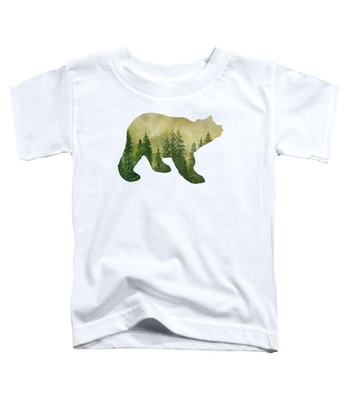 Forest Black Bear Silhouette Toddler T-Shirt