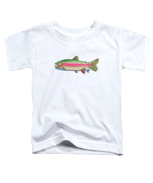 Rainbow Trout On A Fish Toddler T-Shirt