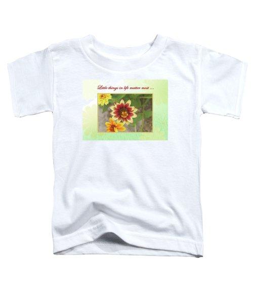 Friendship, A Smiling Indian Blanket Flower  Toddler T-Shirt