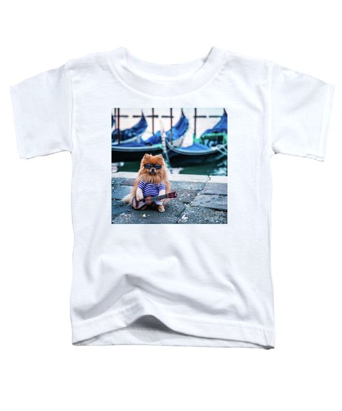Funny Dog At The Carnival In Venice Toddler T-Shirt