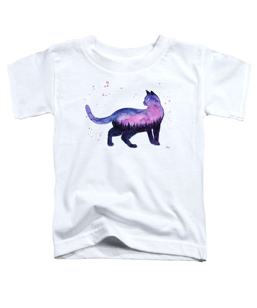 Galaxy Forest Cat Toddler T-Shirt