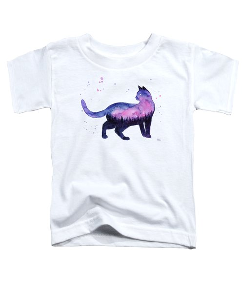 Galaxy Forest Cat Toddler T-Shirt