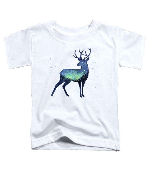 Galaxy Reindeer Silhouette Toddler T-Shirt