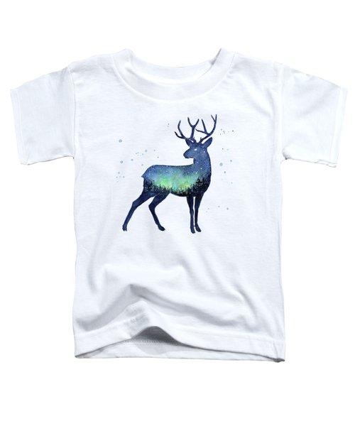 Galaxy Reindeer Silhouette Toddler T-Shirt