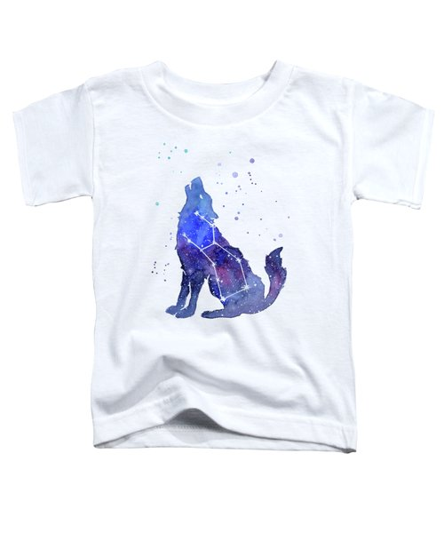Galaxy Wolf - Lupus Constellation Toddler T-Shirt