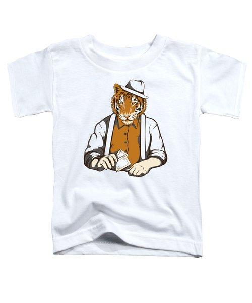 Gambling Tiger Toddler T-Shirt