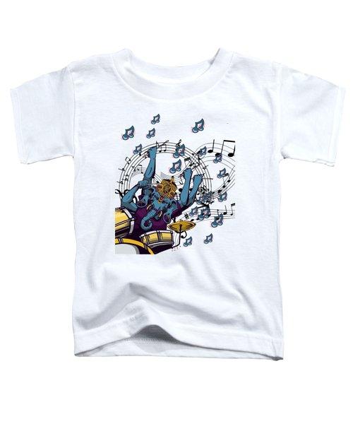 Ganesha Drummer Art Original Artwork Toddler T-Shirt