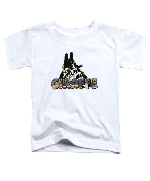 Giraffe Big Letter Toddler T-Shirt