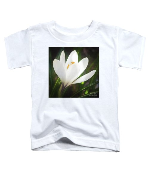 Glowing White Crocus Toddler T-Shirt