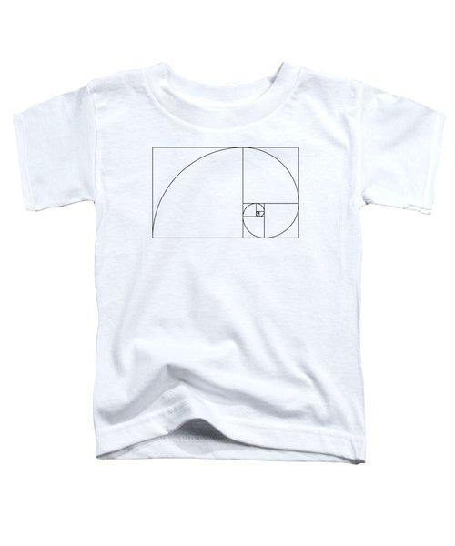 Golden Spiral Toddler T-Shirt