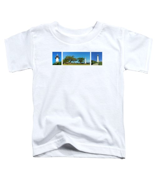Grand Old Lighthouse Biloxi Ms Collage A1e Toddler T-Shirt