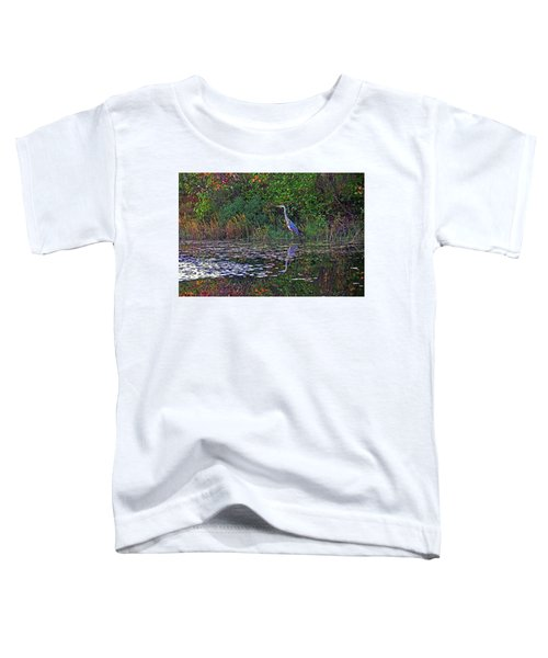 Great Blue Heron In Autumn Toddler T-Shirt