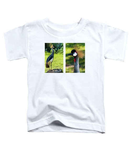 Grey Crowned Crane Gulf Shores Al Collage 10 Diptych Toddler T-Shirt