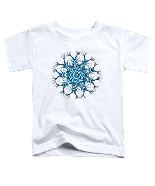 Hairy Snowflake Mandala In Blue Toddler T-Shirt