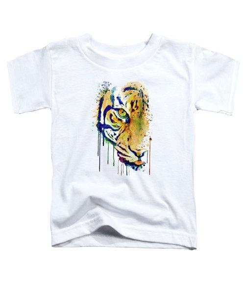Half Faced Tiger Toddler T-Shirt