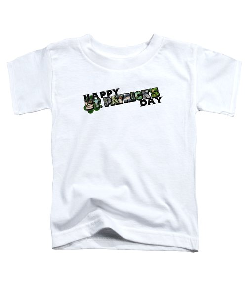 Happy St. Patrick's Day Big Letter Toddler T-Shirt