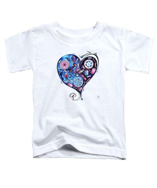 Heart Racing A Mad Shredder Biking Cycling Painting By Megan Duncanson Toddler T-Shirt