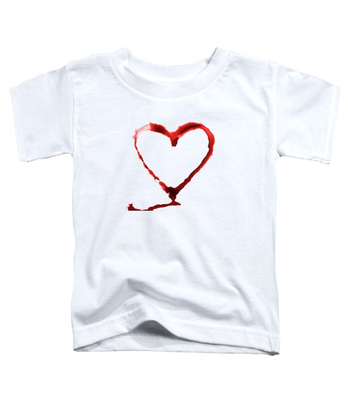 Heart Shape From Splaches And Blobs Toddler T-Shirt