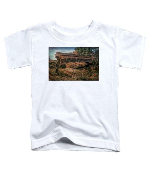 Hemlock Covered Bridge Fryeburg,maine. Toddler T-Shirt