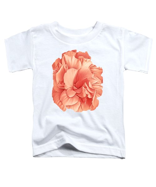 Hibiscus Rosa Double Petaled Peach Toddler T-Shirt