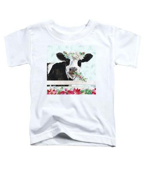 Holiday Crazy Cow Toddler T-Shirt