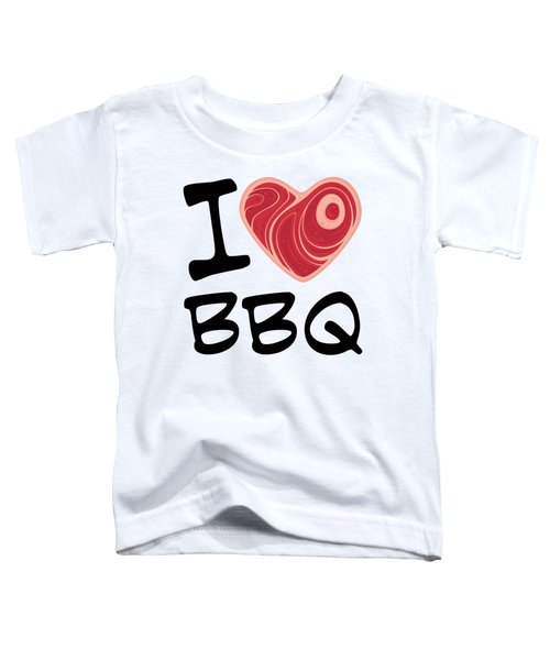 I Love Bbq Toddler T-Shirt