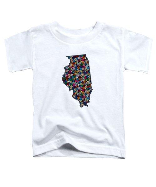 Illinois Map - 1 Toddler T-Shirt