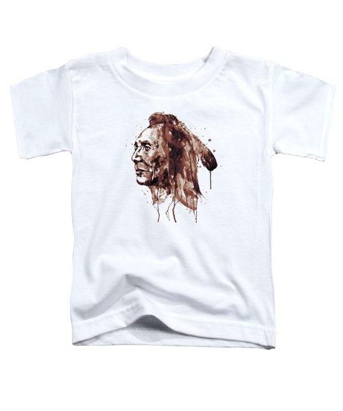 Indian Warrior Sepia Tones Toddler T-Shirt