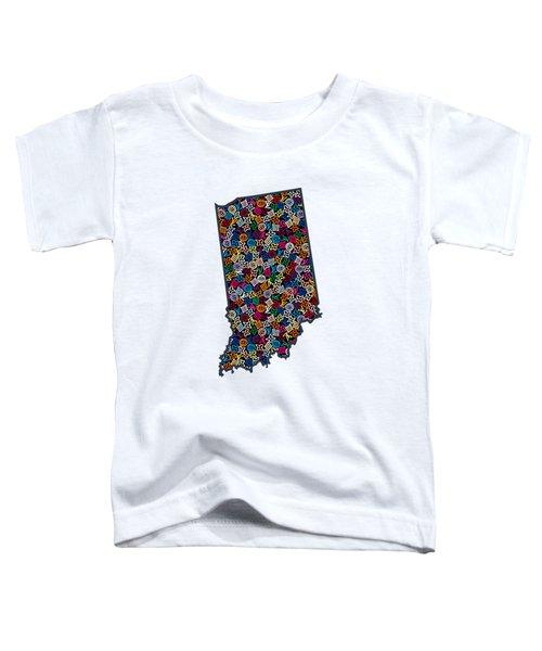 Indiana Map - 1 Toddler T-Shirt