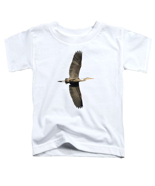 Isolated Great Blue Heron 2018-1 Toddler T-Shirt