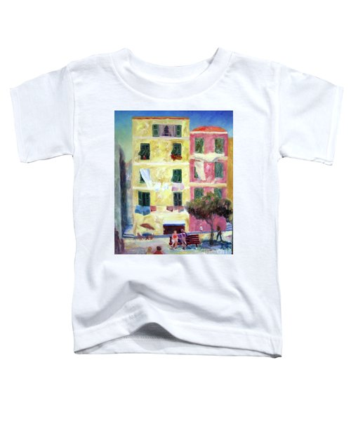 Italian Piazza With Laundry Toddler T-Shirt