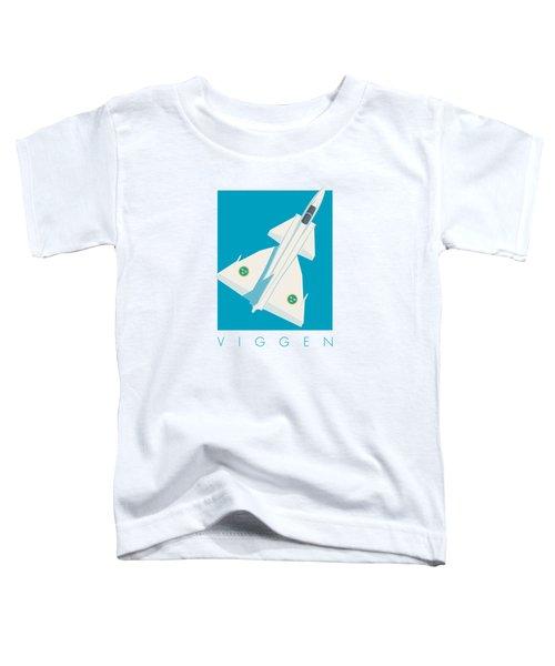 J37 Viggen Swedish Air Force Fighter Jet Aircraft - Blue Toddler T-Shirt