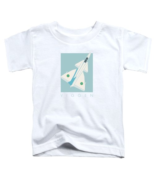 J37 Viggen Swedish Air Force Fighter Jet Aircraft - Sky Toddler T-Shirt