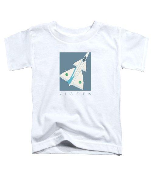 J37 Viggen Swedish Air Force Fighter Jet Aircraft - Slate Toddler T-Shirt