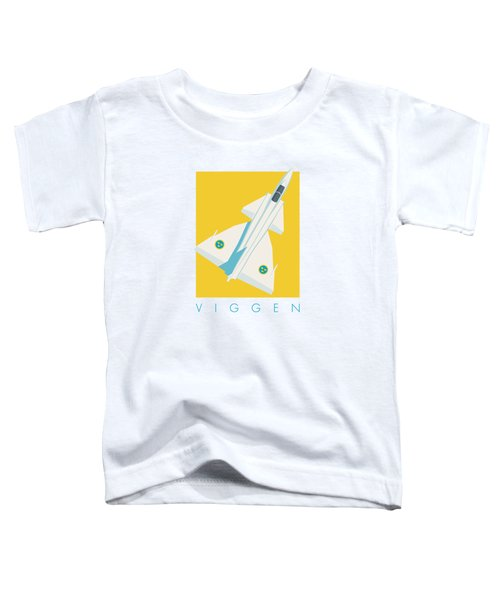 J37 Viggen Swedish Air Force Fighter Jet Aircraft - Yellow Toddler T-Shirt