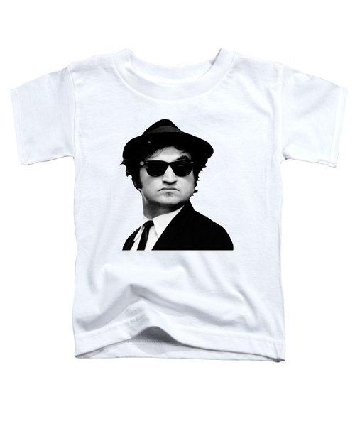 John Belushi Minimalistic Greyscale Toddler T-Shirt