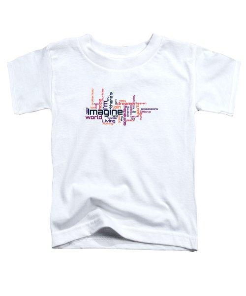 John Lennon - Imagine Lyrical Cloud Toddler T-Shirt