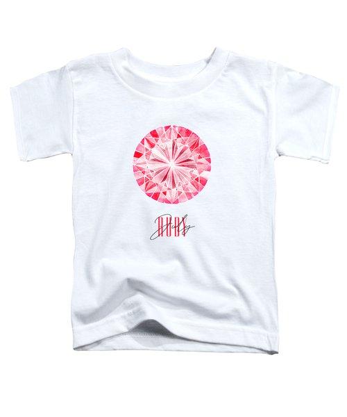 July Birthstone - Ruby Toddler T-Shirt