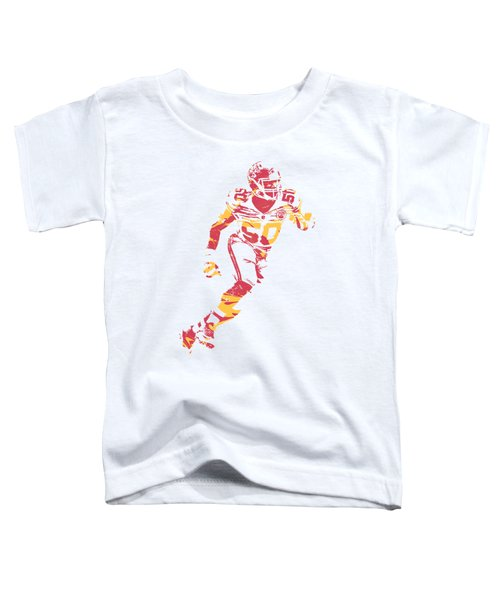 Justin Houston Kansas City Chiefs Apparel T Shirt Pixel Art 3 Toddler T-Shirt