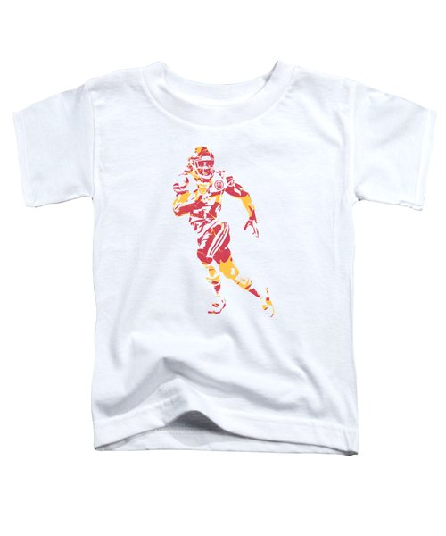 Kareem Hunt Kansas City Chiefs Apparel T Shirt Pixel Art 1 Toddler T-Shirt