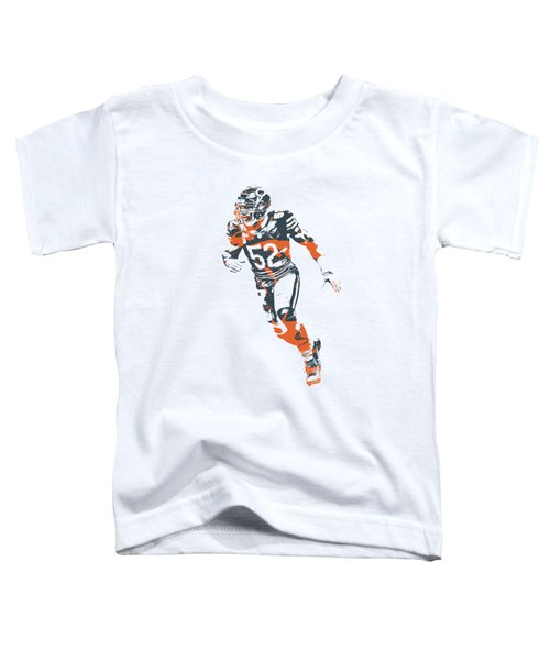 Khalil Mack Chicago Bears Apparel T Shirt Pixel Art 2 Toddler T-Shirt