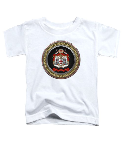 Knights Templar - Coat Of Arms Special Edition Over White Leather Toddler T-Shirt