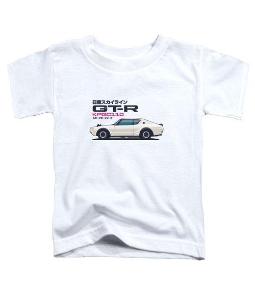 Kpgc110 Gt-r Side - Plain White Toddler T-Shirt