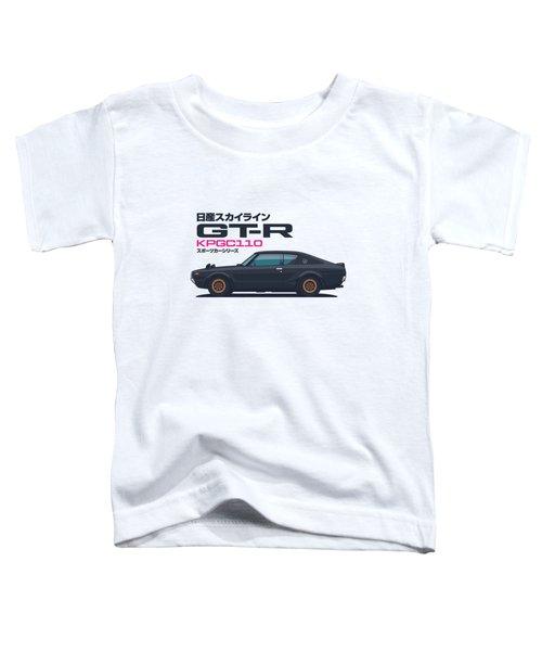 Kpgcc110 Gt-r Side - Plain Black Toddler T-Shirt
