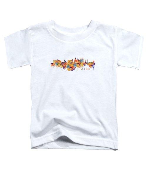 Las Vegas Watercolor Skyline Toddler T-Shirt